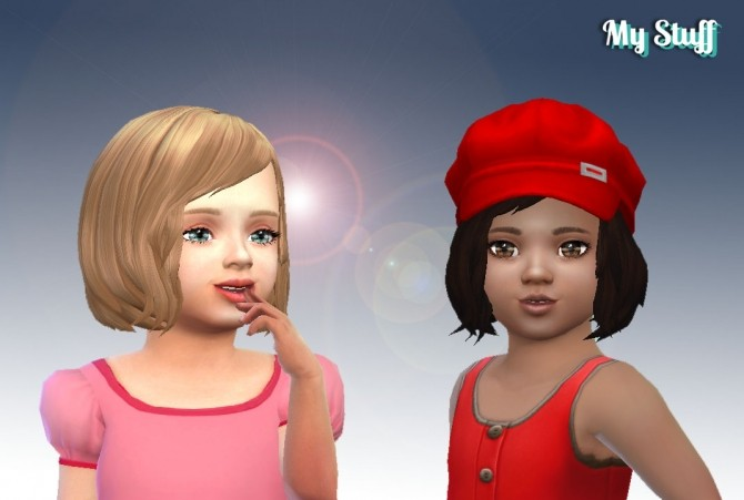 Vitality hair for Toddlers at My Stuff image 584 670x451 Sims 4 Updates