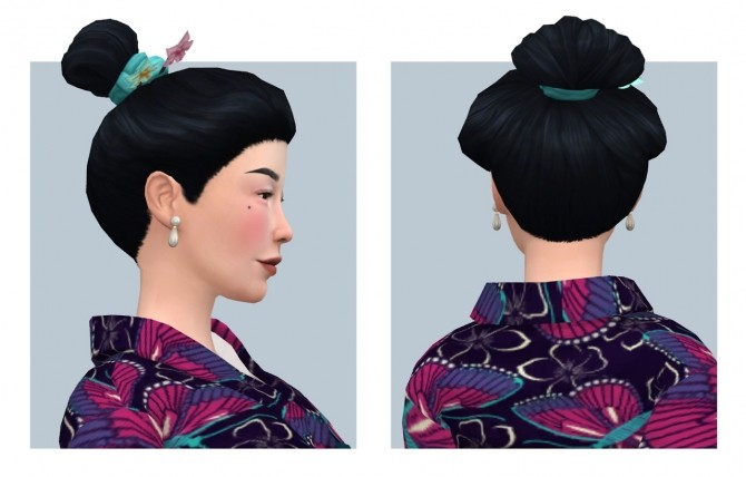 Orchid Hair Versions 1 & 2 plus Overlay Accessory at Femmeonamissionsims image 588 670x428 Sims 4 Updates