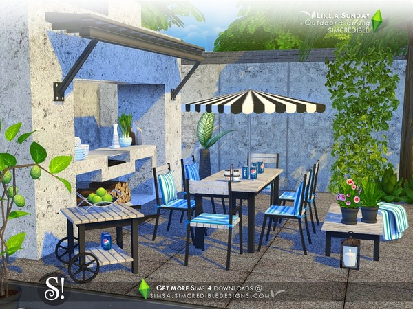 Like a Sunday garden set by SIMcredible at TSR image 5920 Sims 4 Updates