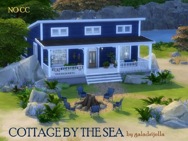 Cottage by the sea by galadrijella at TSR image 601 Sims 4 Updates