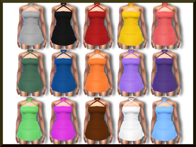 Sims 4 LACY MINI DRESS at Blue8white