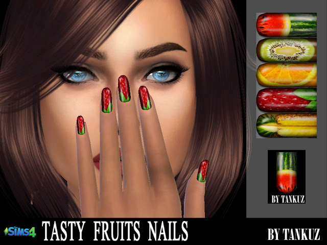 Sims 4 Tasty Fruits Nails at Tankuz Sims4