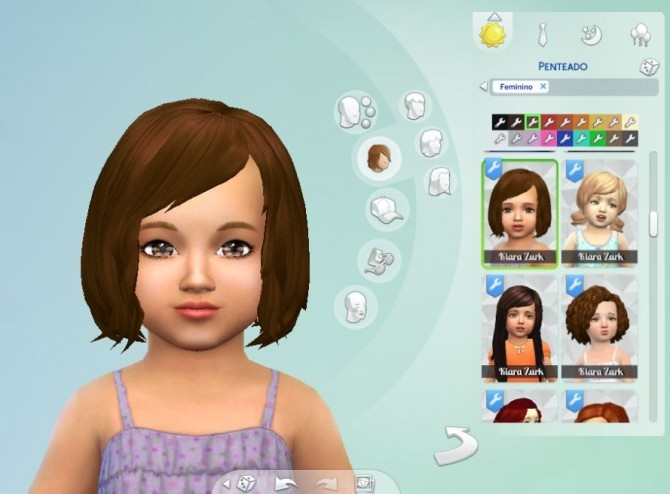 Vitality hair for Toddlers at My Stuff image 604 670x494 Sims 4 Updates