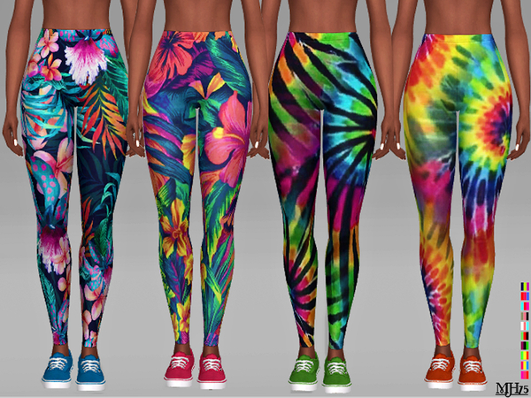 Aloha Leggings by Margeh 75 at TSR image 6103 Sims 4 Updates