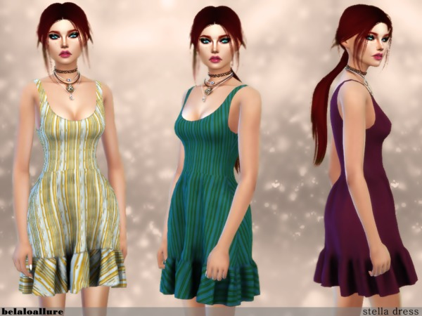 Sims 4 Stella dress by belal1997 at TSR