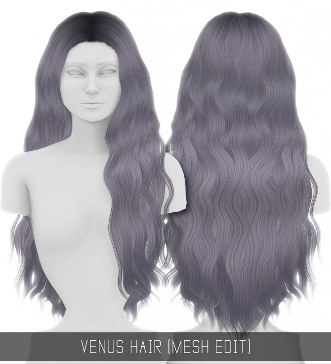 VENUS HAIR (MESH EDIT) at Simpliciaty » Sims 4 Updates