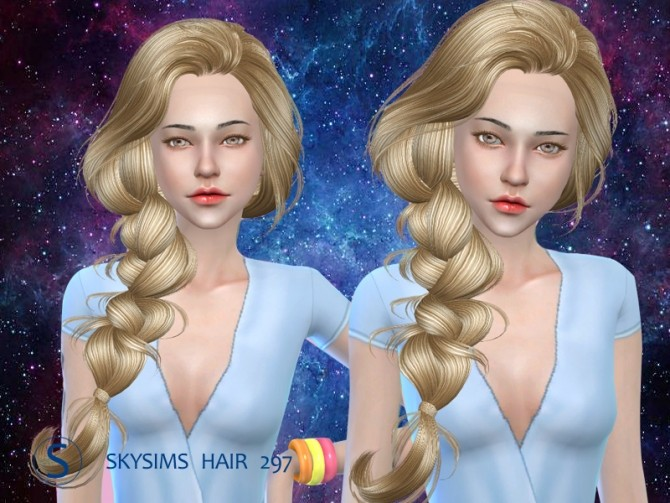 Sims 4 Hair 297 (Pay) by Skysims at Butterfly Sims