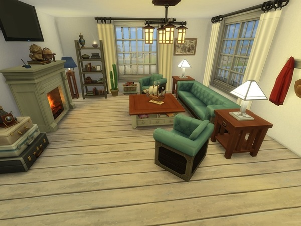 Cottage by the sea by galadrijella at TSR image 621 Sims 4 Updates