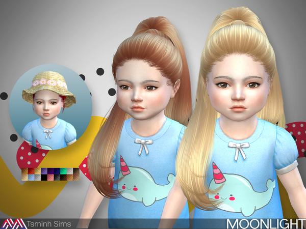 Sims 4 Moonlight Hair 27 toddler by TsminhSims at TSR