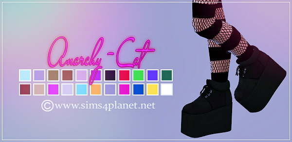 PHIXIL Sugar Plataform Shoes at Anarchy Cat image 6213 Sims 4 Updates