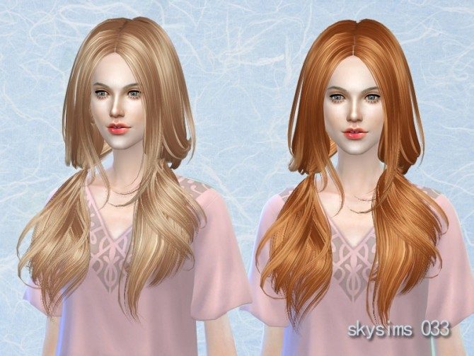 Sims 4 Hair 033 (Free) by Skysims at Butterfly Sims