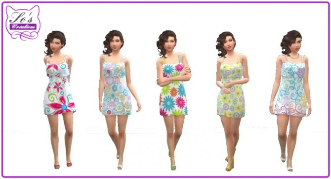 Floral summer dress by Sophie Stiquet at Les Sims4 image 6316 670x362 Sims 4 Updates