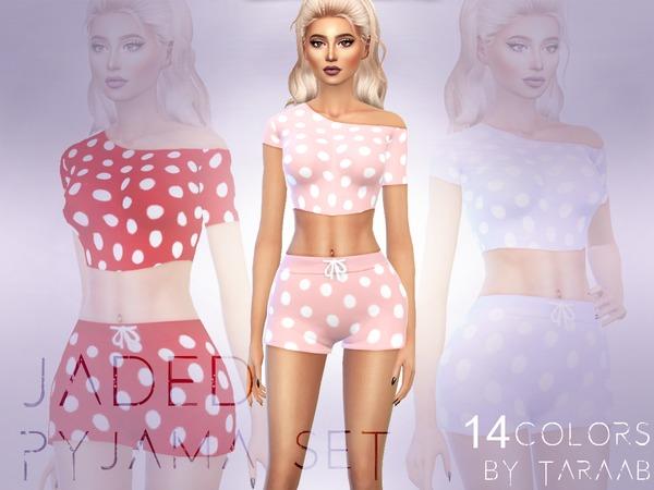 Jaded Pyjama Set by taraab at TSR image 6320 Sims 4 Updates