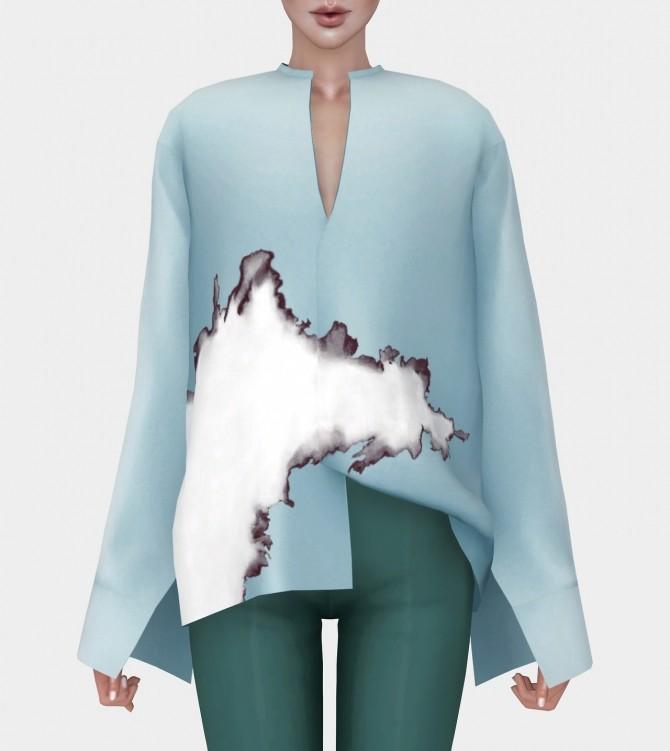 Sims 4 H.A. Oversized Shirt F at Mauvemorn