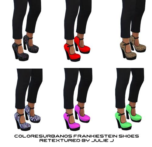 Sims 4 Colores Urbanos FrankieStein Shoes Retextured at Julietoon – Julie J