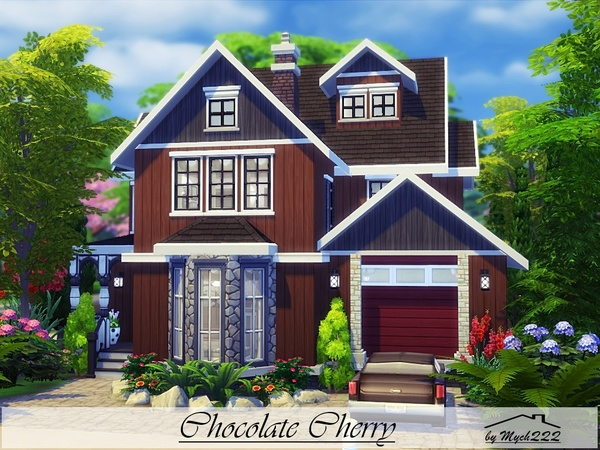 Chocolate Cherry house by MychQQQ at TSR image 6410 Sims 4 Updates