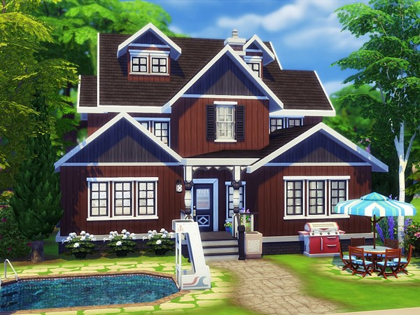 Chocolate Cherry house by MychQQQ at TSR image 6510 Sims 4 Updates