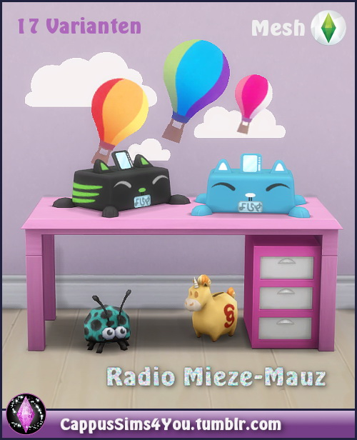 Mieze Mauz radio at CappusSims4You image 6512 Sims 4 Updates