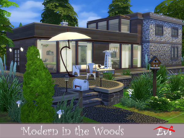Modern in the Woods by evi at TSR image 6519 Sims 4 Updates