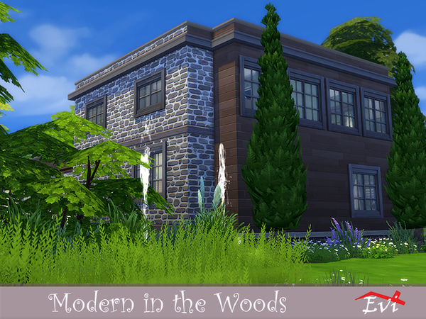 Modern in the Woods by evi at TSR image 6617 Sims 4 Updates