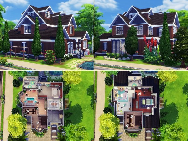 Chocolate Cherry house by MychQQQ at TSR image 669 Sims 4 Updates