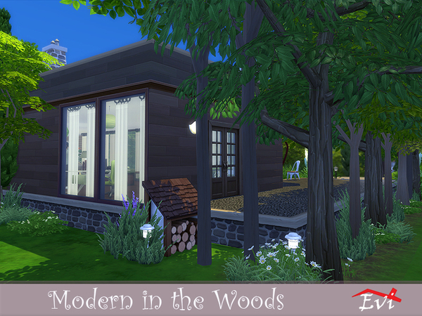 Modern in the Woods by evi at TSR image 6716 Sims 4 Updates