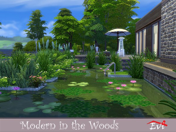 Modern in the Woods by evi at TSR image 6815 Sims 4 Updates