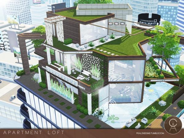 Sims 4 Apartment Loft by Pralinesims at TSR