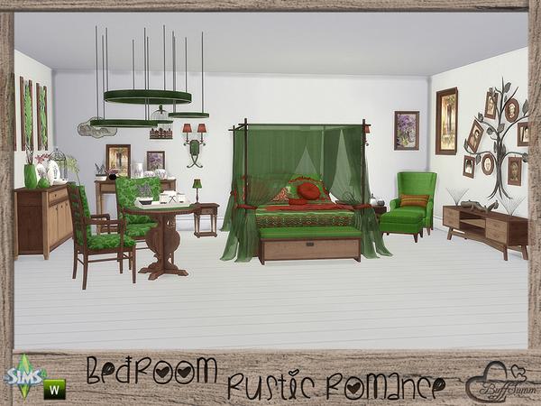 Sims 4 Rustic Romance Bedroom by BuffSumm at TSR