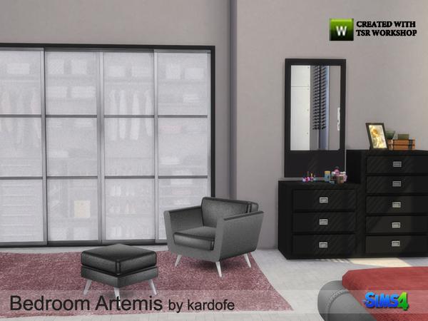 Sims 4 Bedroom Artemis by kardofe at TSR
