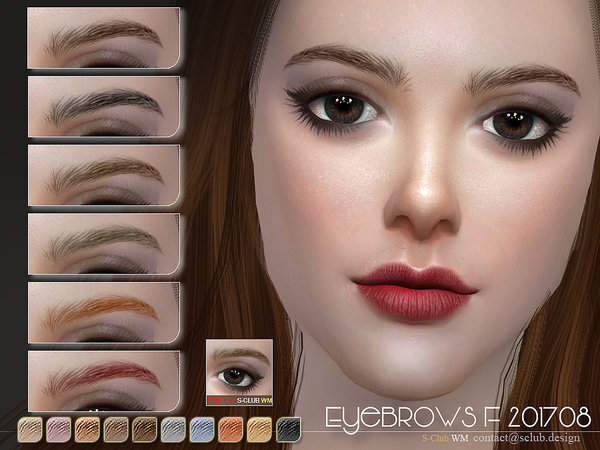 Eyebrows F 201708 by S Club WM at TSR image 720 Sims 4 Updates