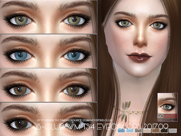 Sims 4 Eyecolors 201709 by S Club WM at TSR