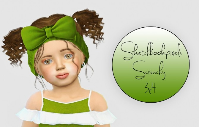Sketchbookpixels Scrunchy Hairband 3t4 At Simiracle 187 Sims