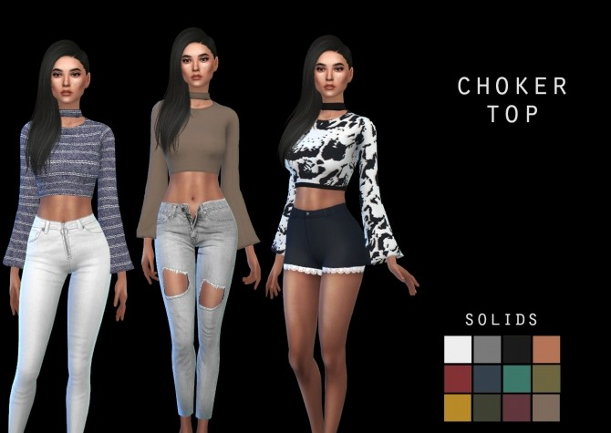Choker Top at Leo Sims image 736 670x475 Sims 4 Updates