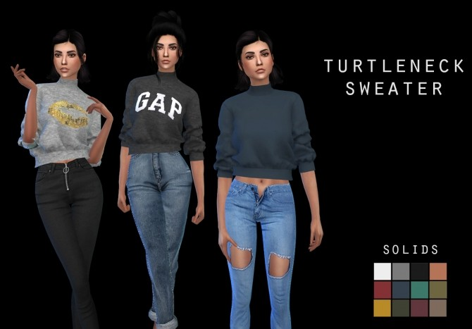 Turtleneck Sweater at Leo Sims image 746 670x467 Sims 4 Updates
