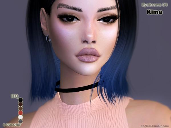 Sims 4 Eyebrows 04 Kima by ANGISSI at TSR