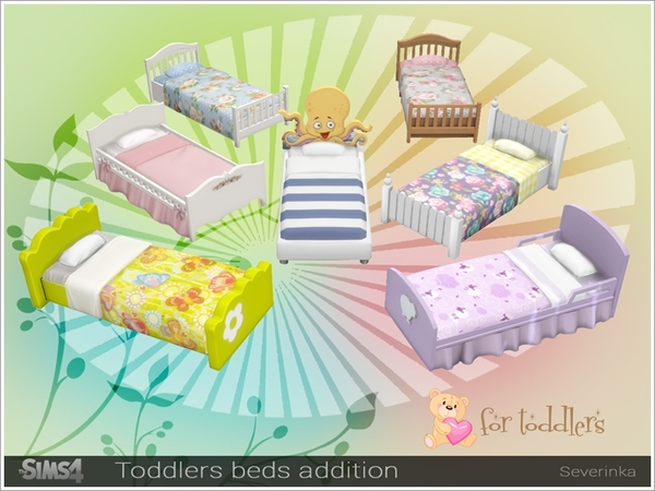 Sims 4 Toddlers beds addition pack by Severinka at TSR