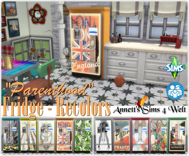 Parenthood Fridge Recolors at Annett's Sims 4 Welt image 763 Sims 4 Updates