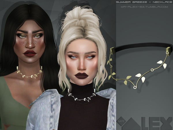 Summer Breeze necklace by Mr.Alex at TSR image 765 Sims 4 Updates