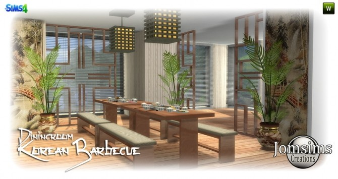 Korean barbecue dining room at Jomsims Creations image 767 670x355 Sims 4 Updates