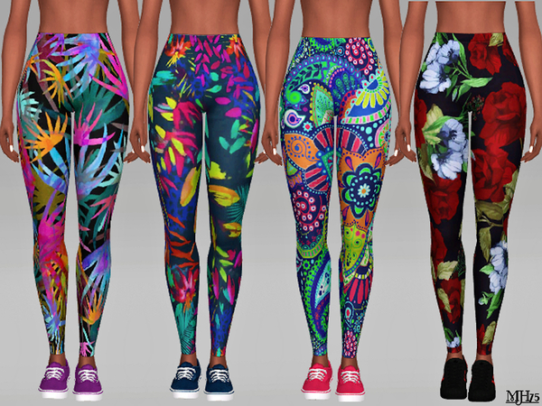 Aloha Leggings by Margeh 75 at TSR image 770 Sims 4 Updates