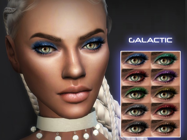 Galactic Glitter Eyeshadow by Kitty.Meow at TSR image 771 Sims 4 Updates
