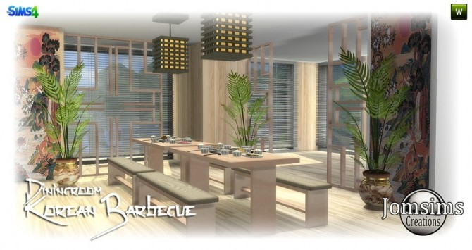 Korean barbecue dining room at Jomsims Creations image 778 670x355 Sims 4 Updates