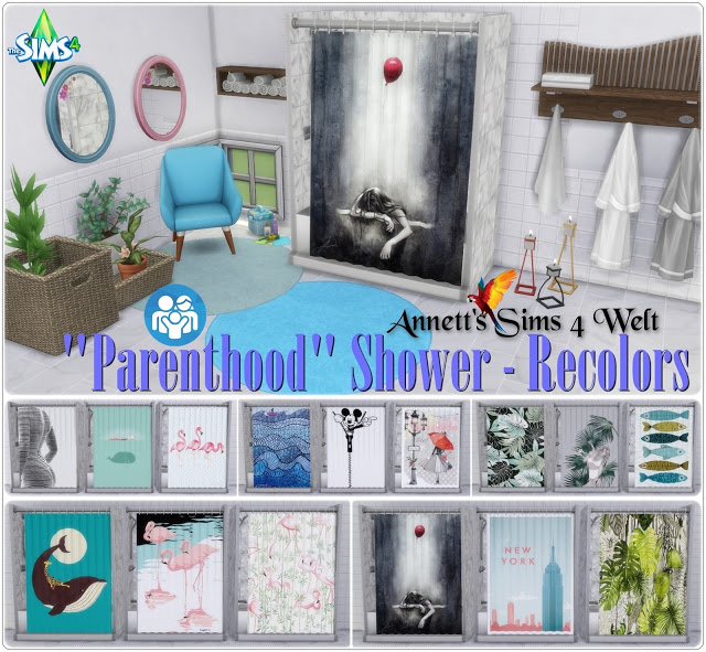 Parenthood Shower Recolors at Annett's Sims 4 Welt image 783 Sims 4 Updates