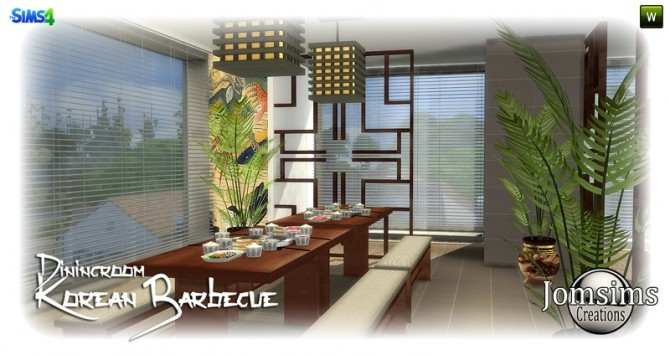 Korean barbecue dining room at Jomsims Creations image 788 670x355 Sims 4 Updates