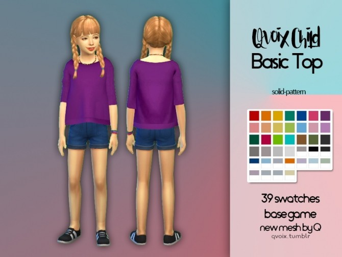 Child Basic Top at qvoix – escaping reality image 79 670x503 Sims 4 Updates