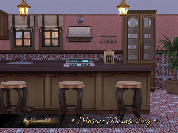 Mosaic Wainscoting by emerald at TSR image 791 Sims 4 Updates