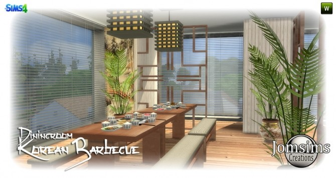 Korean barbecue dining room at Jomsims Creations image 798 670x355 Sims 4 Updates