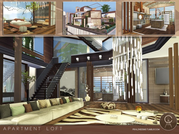 Apartment Loft by Pralinesims at TSR image 8 Sims 4 Updates