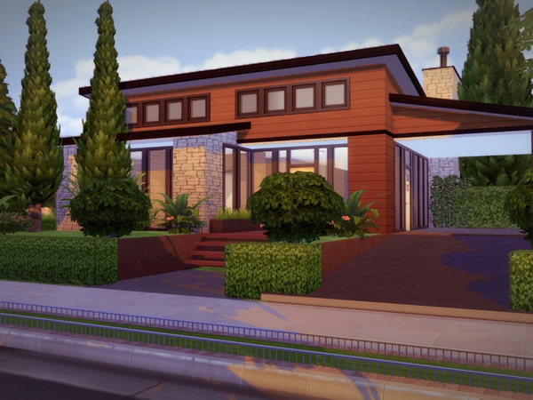 EcoModern House by melcastro91 at TSR image 801 Sims 4 Updates